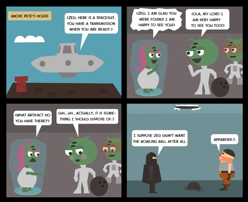 Zed's Departure: Part 3